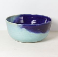 Hey, I found this really awesome Etsy listing at https://www.etsy.com/listing/203312550/ceramic-bowl-dark-ultra-blue-and-light
