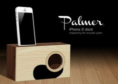 Guitar mimicking Palmer iPhone Dock uses natural acoustics to amplify sounds