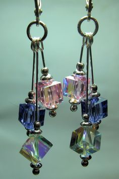 Swarovski Cube Earrings