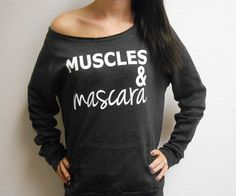 Muscles and Mascara Off Shoulder Shirt. by StrongGirlClothing, $35.99