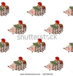 stock-vector-hedgehog-with-mushroom-acorn-and-leaf-seamless-pattern-on-white-background-cute-cartoon-animal-467316431.jpg (450×470)