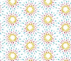 Rainbow Starburst white custom fabric by colour_angel_by_kv for sale on Spoonflower Surface Pattern Design, White Fabrics, Textures Patterns, Custom Fabric, Spoonflower, Craft Projects, Gift Wrapping, Angel