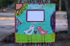 Canvas Mixed Media Picture Frame Song of by hodgepodgebycarley, $45.00