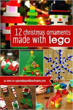 Do your boys think they're too old for Christmas crafting fun? Not so! They'll love these Lego Christmas ornament ideas and so will you!
