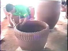 Handmade stoneware pottery made in Vietnam the way it has been done for centuries.