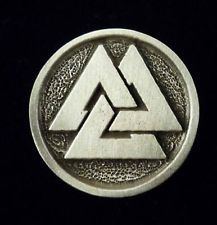Viking Norse Valknut Button in Fine Pewter Set of FIVE