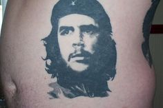 Che Guevara Back Tattoo Che Guevara Tattoo, Ernesto Che, Back Tattoo, Tattoo Designs, Portrait, Tattoos, Art, Art Background, Tatuajes