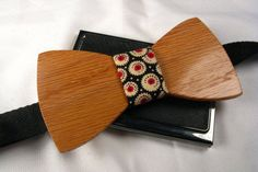 Wooden Bow Tie - Handcrafted from Oak Wood and Quality Materials #Handmade #BowTie