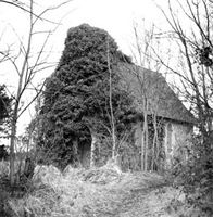 Otterbourne: the old church before demolition, 2nd February 1961. From Hampshire Archives and Local Studies.