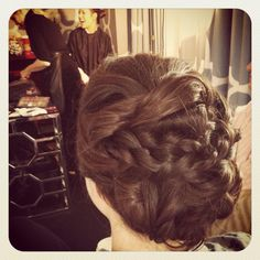 Updo with braids for a bride or a bridesmaid by Bella Angel.