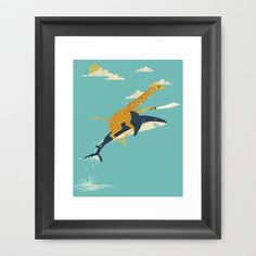 Onward! Framed Art Print by Jay Fleck - $33.00