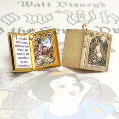 Snow White - Miniature Book Charm Quote Pendant - for charm bracelet or necklace. Custom available!