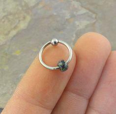 Beaded Cartilage Hoop Silver Earring Boho Tragus Helix Piercing CBR
