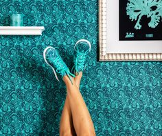 Perfect your paisley pose with Reebok Skyscape sneakers.