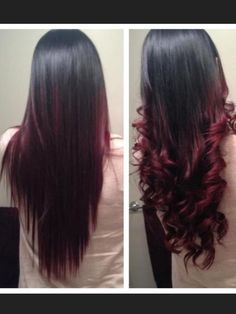 nice dark purple red hair ombre Ombre black to Burgundy bulletin board ideas Pinterest
