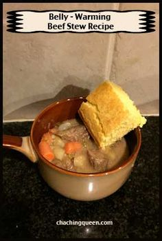 This is my favorite beef stew recipe. It warms your belly and tastes wonderful. Serve this belly warming stew on a cold day or any day you are wanting a one pot home cooked meal.