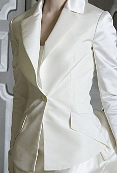 Bridal jacket with beautiful, clean lines