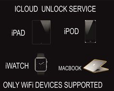 iCloud Unlock / Removal service. iPod, iPad, iWatch, iMac, iPhone (WiFi only). Contact Us Before Buying This Service. We Work 24/7.  #icloud #device #removal #bypass #icloud #unlock #iphone #clean #blacklisted #ipad #ipod #iwatch  http://www.bonanza.com/listings/Icloud-Unlock-Removal-service-iPad-iPod-iWatch-MacBook-iPhone-With-Wifi/407859681
