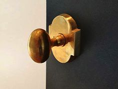 Door Knobs – The Good And The Not-So-Good + Sources Sun Valley Bronze-BHM-Hardware unlacquered brass egg knob with arched rosette is lovel Interior Door Knobs, Black Interior Doors, Black Doors, Home Interior, White Doors, Interior Ideas, Front Door Hardware, Home Hardware, Brass Hardware
