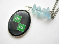 Breaking Bad: Br Ba elements photo resin with crystal meth pendant necklace by vintagehomage for $9.00