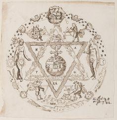 Alchemical and Rosicrucian compendium, ca. 1760