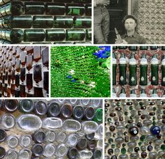 Houses made out of glass bottles