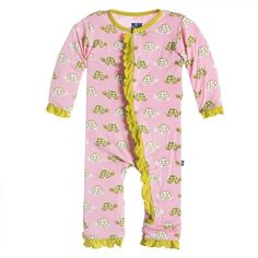 Ruffle Coverall Lotus Turtle
