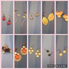 Bundle of ten different earrings!! Bundle of ten different earrings! Great condition! (1) Shimmery pink beaded earrings. (2) Dangly silver thread earrings with star charms. (3) Shimmery green beaded earrings. (4) Gold colored leaf earrings. (5) Pink flower earrings. (6) Silver earrings with purple stones and pearls. (7) Shades of pink statement earrings. (8) Silver cascading sparkly disc earrings. (9). Green jade studs earrings from Alaska. (10) Sparkly gold disc earrings. Please note: Some…