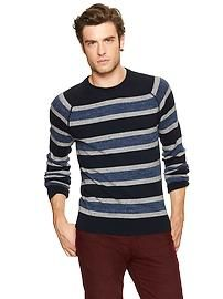 Heathered striped sweater from the Gap. #mensfashion2013