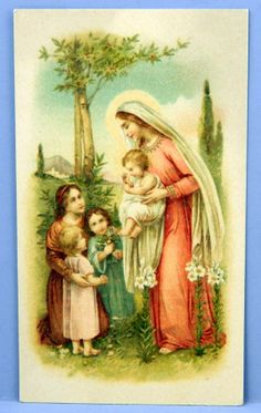 Blessed Mother Mary Vintage Holy Card by QueeniesCollectibles, $14.99
