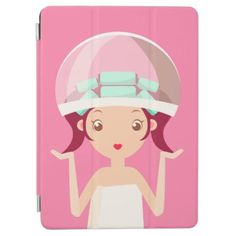 Hood Dryer Beauty Girl iPad Air Cover - makeup artist gifts style stylish unique custom stylist