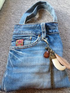 Tasje van spijkerbroek