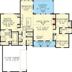Super Farmhouse Plans One Story Open Floor Master Suite Ideas House Plans One Story, Ranch House Plans, New House Plans, Small House Plans, House Floor Plans, Autocad, Master Suite, Master Bedroom, Decorative Wood Trim