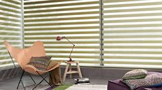 perdeler ana olay oluyoır // Garden green Twist™ Roller Blinds bring the feeling of the outside in. Hunter Douglas, Living Room Green, Living Room Windows, Formal Living Rooms, Day Night Blinds, Double Roller Blinds, Zebra Blinds, Elegant Curtains, Shades Blinds