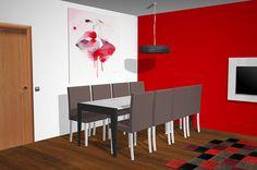 Proyecto 3D con panel TV giratorio directo a pared