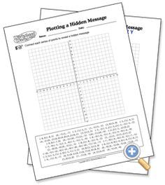 Free Printable Coordinate Plane worksheets. There's one