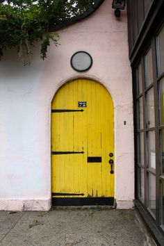What do you suppose lies behind this yellow door?