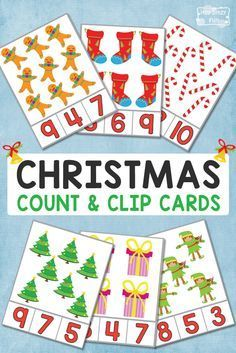 FREE Christmas Counting Clip Card Printables for Kids Preschool Christmas Activities, Preschool Printables, Christmas Worksheets, Holiday Themes, Christmas Themes, Christmas Math, Xmas, Theme Noel, In Kindergarten