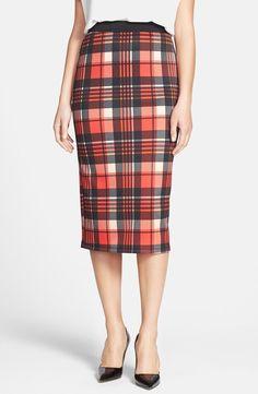 Bobeau Plaid Skirt