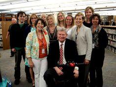 Senator Tim Johnson visits the staff at Vermillion Public Library #SDSLCornerstone
