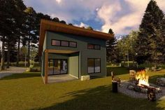 Cottage Plan: 793 Square Feet, 1-2 Bedrooms, 1 Bathroom - 286-00090 Micro House Plans, Small Cottage House Plans, Pool House Plans, Small Cottage Homes, Small House Floor Plans, Cottage Floor Plans, Lake House Plans, Cottage Plan, Tiny House Cabin
