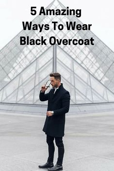 How to wear black overcoat for men, overcoat styles for men. Winter is in full swing (at least in our part of the World) and to help you look sharp is our top priority. Mens Fashion Blog, Best Mens Fashion, Men's Fashion, Fashion 2020, Fashion Tips, Lucky Tiger, Mens Wardrobe Essentials, Men's Wardrobe, Bugatti