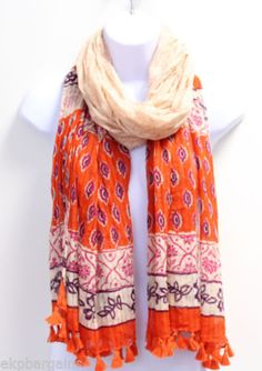 New-With-Flaws-Womens-Scarf-One-Size-Multi-Color-M5006-L