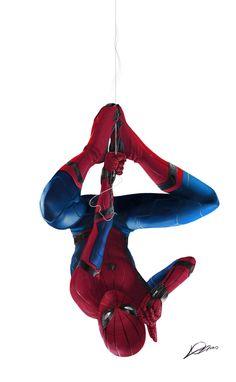 "Spider-Man: Homecoming! (promo art)  ""hey, everyone…"""