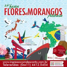 Já comprou seu ingresso para a 35ª Edição da Festa de Flores e Morangos de Atibaia? Não? Então compre agora: www.ingressocomdesconto.com.br Televendas:(0xx11) 4412-5454  Temos também o transporte oficial da festa, consulte-nos! :)