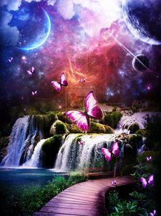 gentleherbivore:    Purple Butterfly Fantasy by ~xHarleyDollx