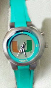 Miami Hurricanes Fossil Kaleido Flashing Logo Watch Womens Fossil. $79.00