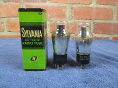 Type 76 Vacuum Tubes Sylvania Tung-Sol Tested NOS Lot of 2 #TungSol