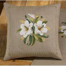 White Flowers Pillow Cover