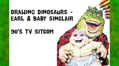 Drawing Dinosaurs - Earl & Baby Sinclair Earl Sinclair, Dinosaurs, My Favorite Things, Drawings, Videos, Artwork, Youtube, Baby, Fictional Characters